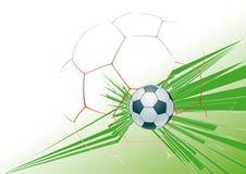 Priorità bassa di calcio Fotografie Stock Libere da Diritti