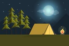 Priorità bassa di campeggio Fotografie Stock