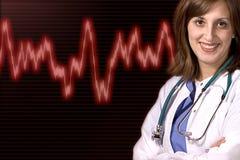 Priorità bassa di cardiologia Fotografia Stock