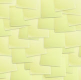 Priorità bassa di carta appiccicosa gialla Fotografia Stock Libera da Diritti