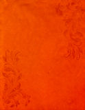 Priorità bassa di carta arancione di Grunge con stile dell'annata Fotografie Stock