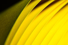 Priorità bassa di carta gialla di struttura Fotografie Stock