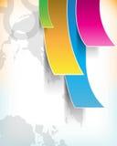 Priorità bassa di carta multicolore di vettore Eps10 Immagini Stock
