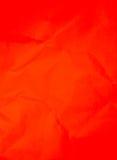 Priorità bassa di carta rossa sgualcita Fotografia Stock