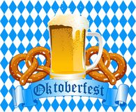 Priorità bassa di celebrazione di Oktoberfest Fotografie Stock Libere da Diritti