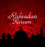Priorità bassa di celebrazione di Ramazan Fotografie Stock