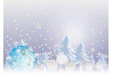 Priorità bassa di chistmas della neve illustrazione di stock