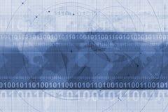 Priorità bassa di codice binario Immagine Stock