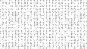 Priorità bassa di codice binario illustrazione vettoriale