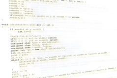 Priorità bassa di codice sorgente Fotografie Stock Libere da Diritti
