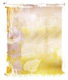 Priorità bassa di colore giallo di trasferimento del Polaroid Immagine Stock