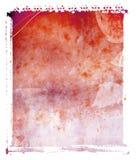 Priorità bassa di colore rosso di trasferimento del Polaroid Immagine Stock Libera da Diritti