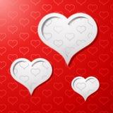 Priorità bassa di concetto della scheda di giorno dei biglietti di S. Valentino Immagini Stock Libere da Diritti