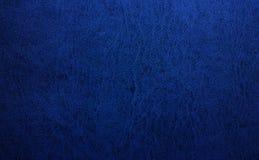 Priorità bassa di cuoio blu di struttura Fotografia Stock