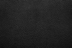 Priorità bassa di cuoio nera di struttura Fotografia Stock