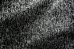 Priorità bassa di cuoio scura nera fotografia stock libera da diritti