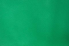 Priorità bassa di cuoio verde di struttura fotografie stock