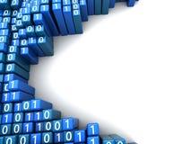 Priorità bassa di dati binari Immagine Stock Libera da Diritti