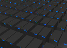 Priorità bassa di dati di web server Fotografia Stock