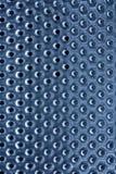 Priorità bassa di di piastra metallica con i fori Fotografie Stock