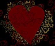 Priorità bassa di disegno del cuore Fotografie Stock Libere da Diritti
