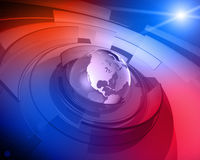 Priorità bassa di disegno del globo 3D del mondo Fotografie Stock