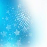 Priorità bassa di disegno della stella blu Immagini Stock