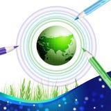 Priorità bassa di disegno della terra di Eco Fotografie Stock