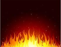 Priorità bassa di disegno delle fiamme Fotografie Stock