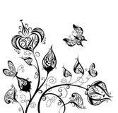 Priorità bassa di disegno floreale?, contesto, disegno dell'illustrazione Fotografie Stock
