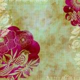 Priorità bassa di disegno floreale del batik di Artisti Fotografie Stock