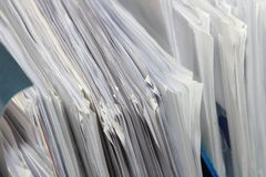 Priorità bassa di documento in ufficio Immagini Stock Libere da Diritti