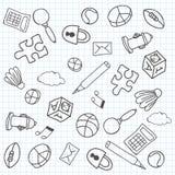 Priorità bassa di Doodle Illustrazione di vettore Immagini Stock Libere da Diritti