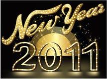Priorità bassa di esposizione del nuovo anno Immagini Stock
