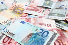 Priorità bassa di euro soldi Fotografie Stock