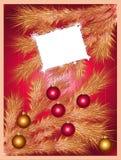 Priorità bassa di festa con un albero di Natale scintillante Immagine Stock