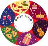 Priorità bassa di festa di Purim. Fotografia Stock