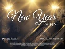 Priorità bassa di festa di nuovo anno Vettore eps10 Fotografia Stock