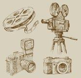 Priorità bassa di film illustrazione di stock