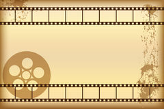 Priorità bassa di film di Grunge illustrazione di stock