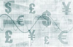Priorità bassa di finanze di affari Immagine Stock Libera da Diritti