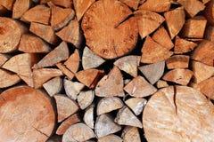 Priorità bassa di Firewoods Fotografia Stock Libera da Diritti