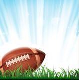 Priorità bassa di football americano Fotografie Stock