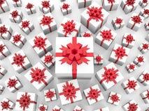 Priorità bassa di Giftboxes Fotografie Stock Libere da Diritti