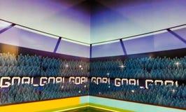 Priorità bassa di gioco del calcio Fotografia Stock Libera da Diritti