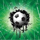 Priorità bassa di gioco del calcio di Grunge Fotografia Stock