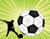 Priorità bassa di gioco del calcio di vettore Immagini Stock