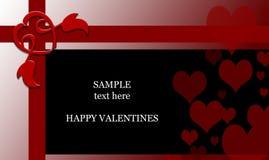 Priorità bassa di giorno dei biglietti di S. Valentino fotografia stock libera da diritti