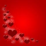 Priorità bassa di giorno dei biglietti di S. Valentino Immagini Stock Libere da Diritti