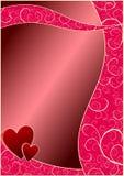 Priorità bassa di giorno dei biglietti di S. Valentino Immagine Stock Libera da Diritti